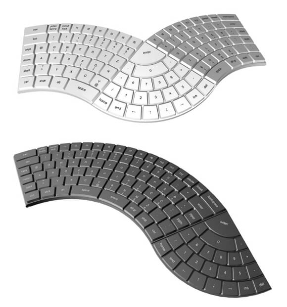 Um teclado modular divertido e ergonômico.