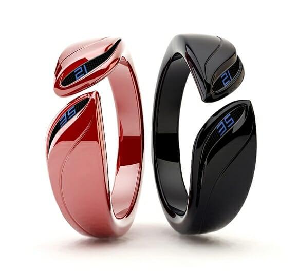 Time Bracelet - Relógios de pulso em forma de braceletes com design futurista.