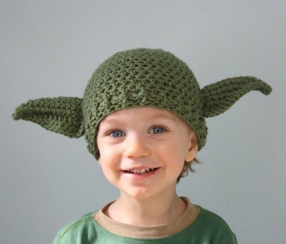 Do Mestre Yoda esta touca é. Esquentar sua cabeça ela vai.