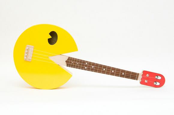 Instrumento geek do dia: Ukulele do Pac-Man.