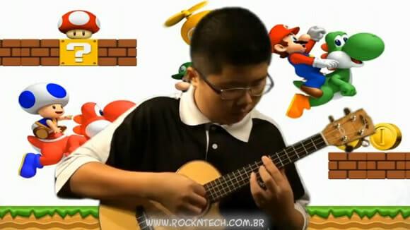 VIDEOFUN - Música tema do Super Mario tocada no Ukulele.
