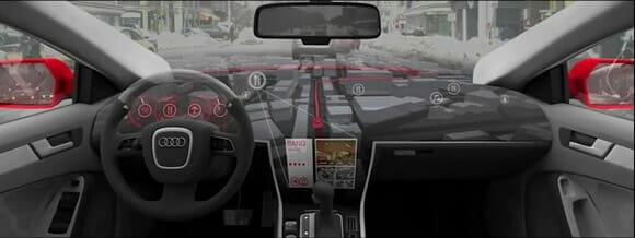 Novo carro conceito da Audi é equipado com um GPS 3D gigante no console. (com vídeo)