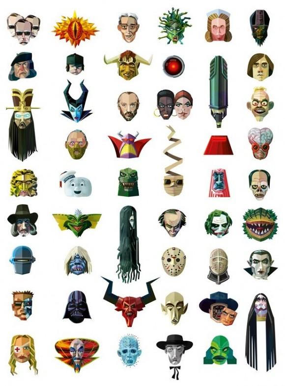 FOTOFUN - Os 50 vilões e vilãs mais famosos do cinema. Consegue reconhecer todos?