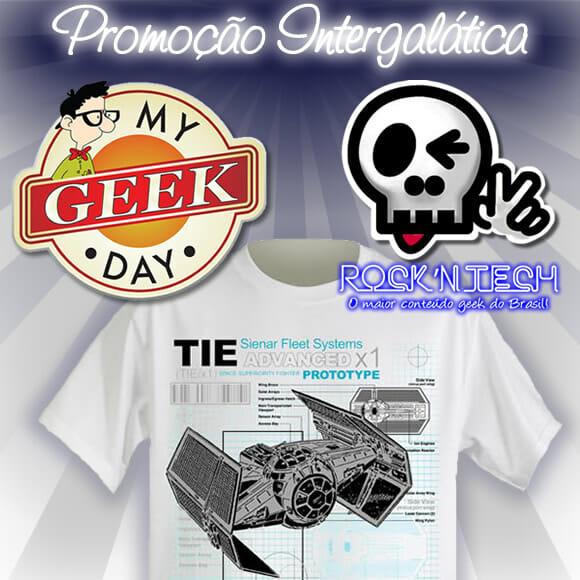 Promoção MyGeekDay e ROCK'N TECH - Ganhe uma camiseta irada do Star Wars!