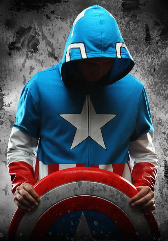 Blusas da Marvel para se sentir um Super Herói.