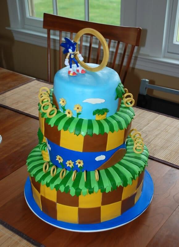 Cozinha geek: Bolo do Sonic!