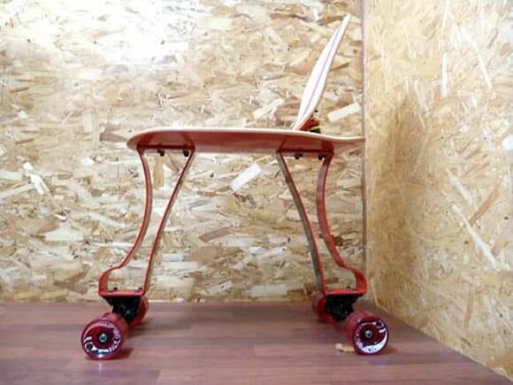 Isukebo - A cadeira skate. (com vídeo)
