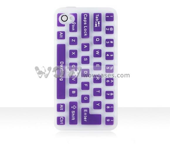Case para iPhone 4 que imita um teclado.
