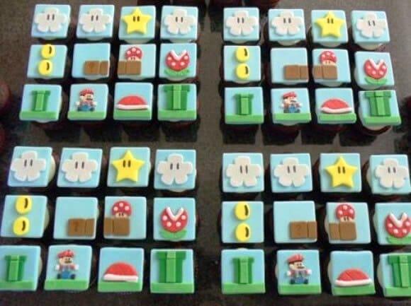 Cupcakes do Super Mario: Comer ou não comer, eis a questão.