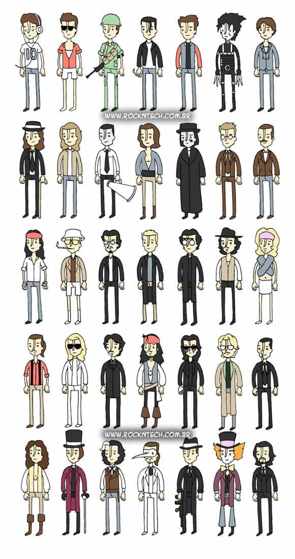 FOTOFUN - Johnny Depp e seus personagens.