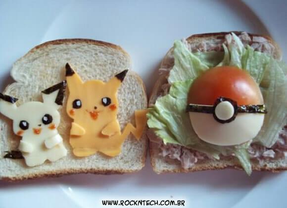 FOTOFUN - Prato geek do dia: Sanduíche de Pokémon.