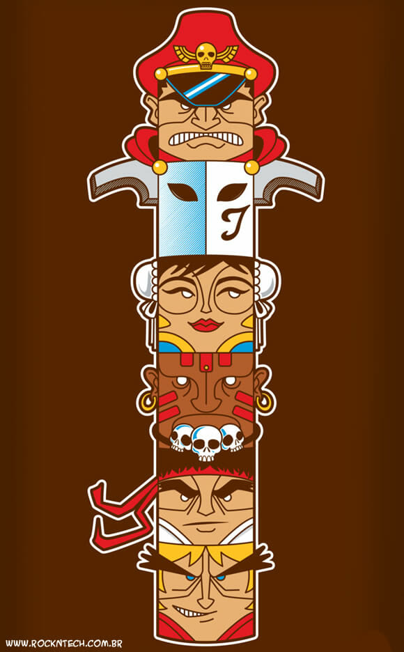 FOTOFUN- Totem do Street Fighter 2.