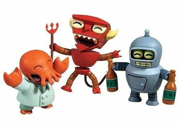 Novos minifigs Tineez da série Futurama.