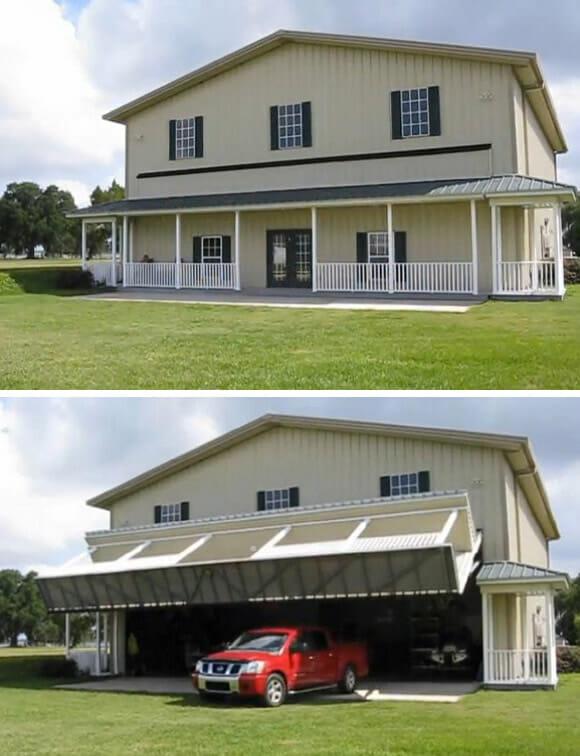 A incrível garagem escondida atrás da fachada de uma casa. (com vídeo)