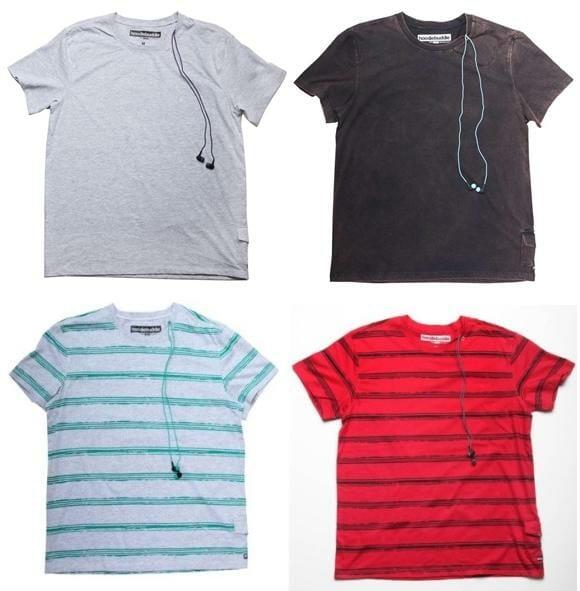 HoodieBuddie lança linha de camisetas equipadas com fones de ouvido na gola.