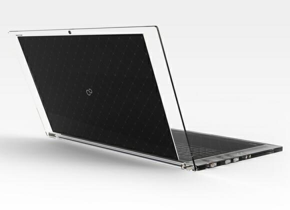 Luce - Um notebook futurista com design transparente.