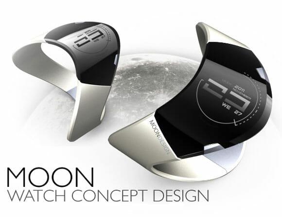 MoonWatch - Um relógio de pulso conceito com design futurista inspirado na Lua.