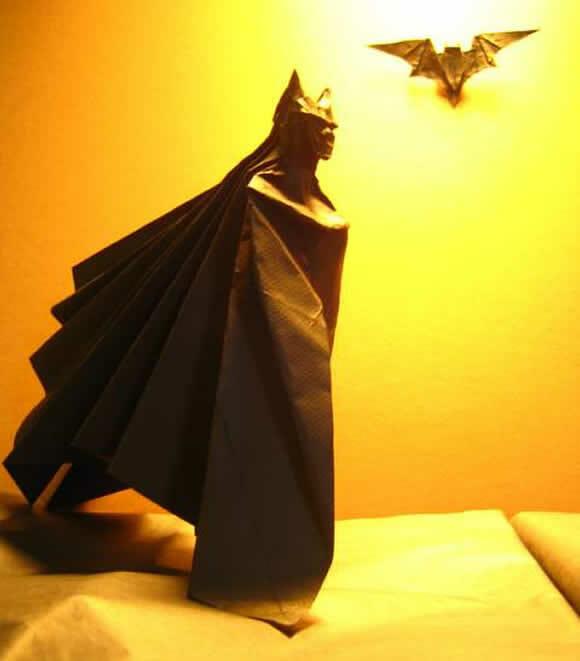 Origami do Batman. Perfeito!