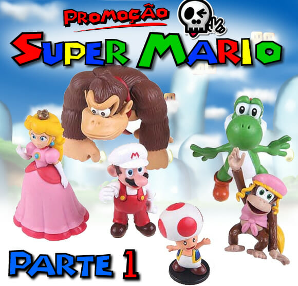 Promoção Mini Figures Super Mario - Parte 1. Ganhe 1 boneco do Donkey e Dixie Kong!