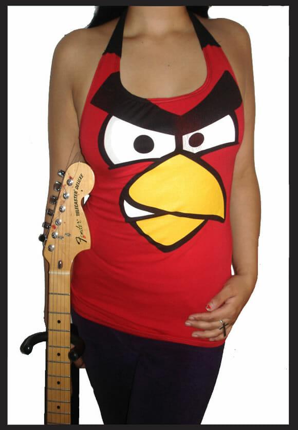 Regata do Angry Birds para garotas geeks.