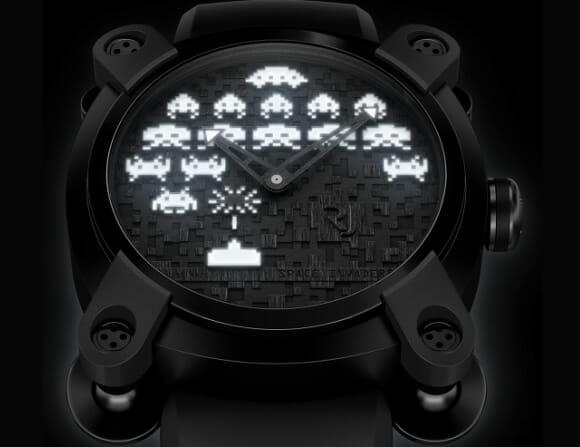Relógio de pulso dos Space Invaders por apenas 10 mil dólares!
