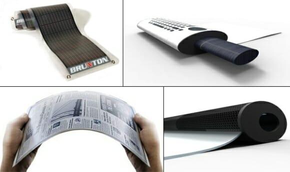 Roll Me - Um mini notebook conceito que pode ser enrolado como um jornal.