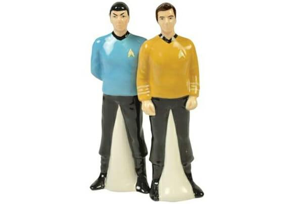 Saleiro e pimenteiro do Spock e Capitão Kirk.