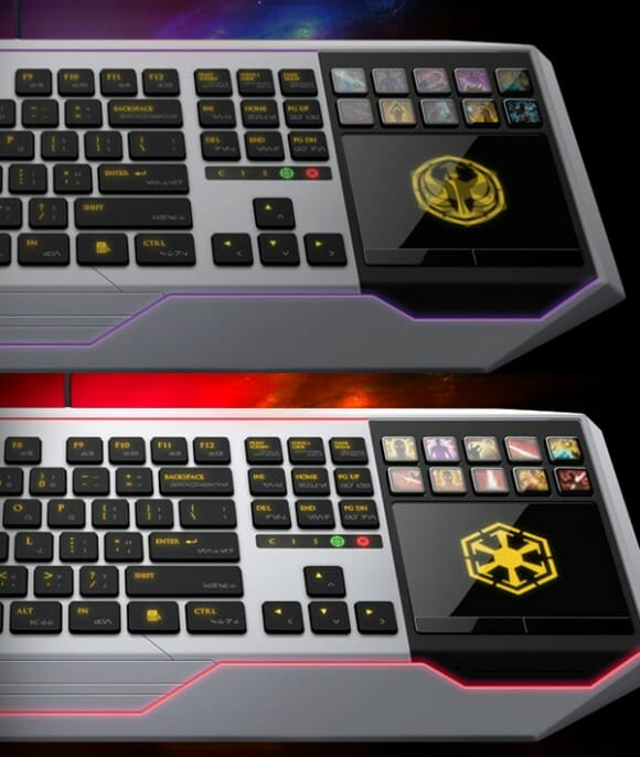 Novo mouse e teclado da Razer para gamers baseado no game Star Wars: The Old Republic.