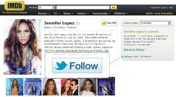 Twitter lança novo botão Follow para blogueiros ou twitteiros que tenham website.