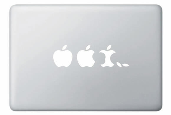 Adesivo Apple Evolution para Macbooks e iPads é criativo!