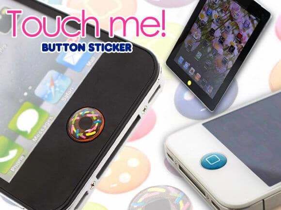 Decore o botão Home de seu iPhone, iPad ou iPod com os criativos adesivos Touch Me!