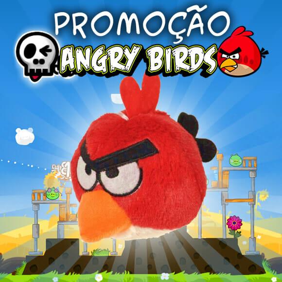 Promoção Angry Birds. Concorra a 1 Angry Birds de pelúcia!