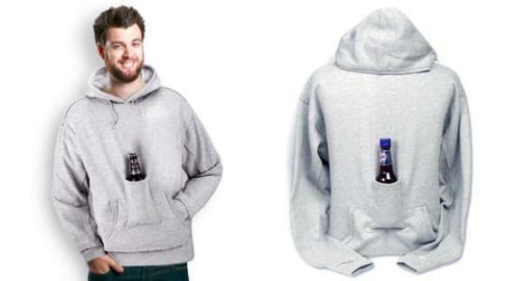Blusa de frio com compartimento especial para cerveja