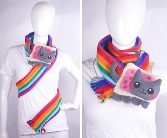 Cachecol do Nyan Cat!
