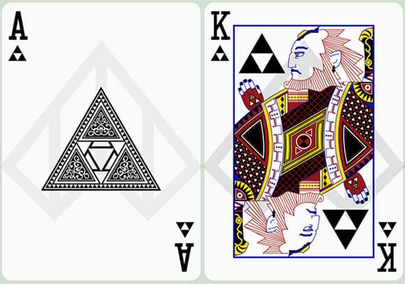 Cartas de baralho do game Zelda.