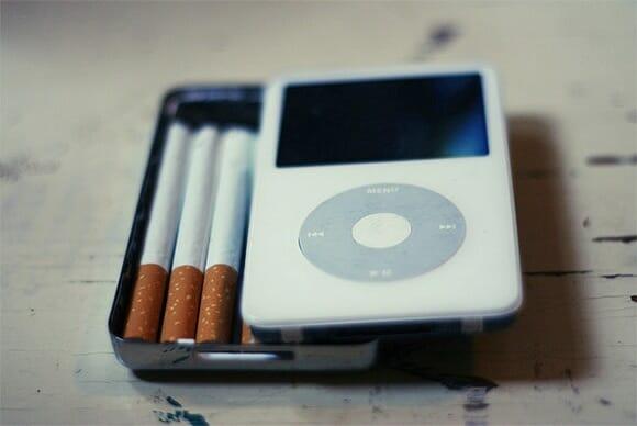 Um iPod para guardar cigarros.