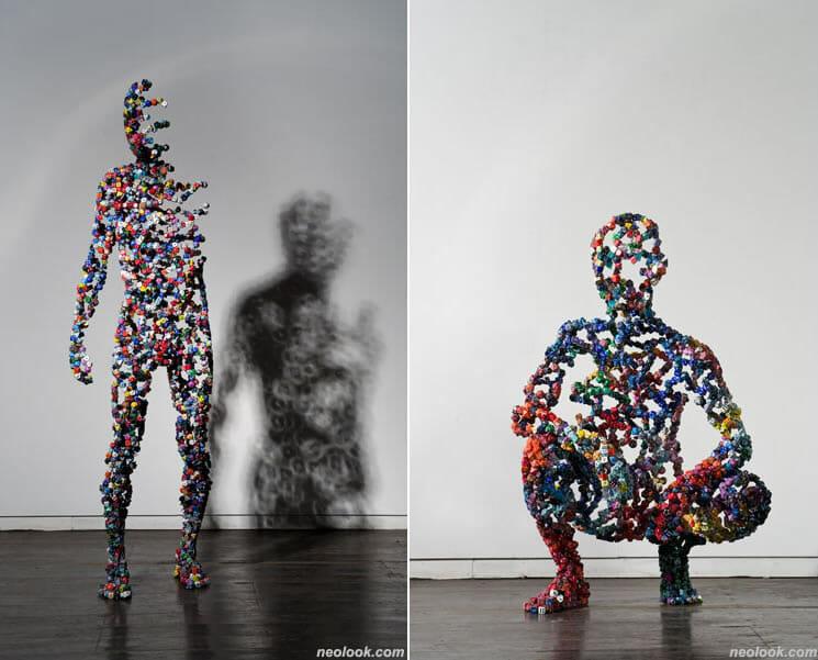 esculturas feitas com dados