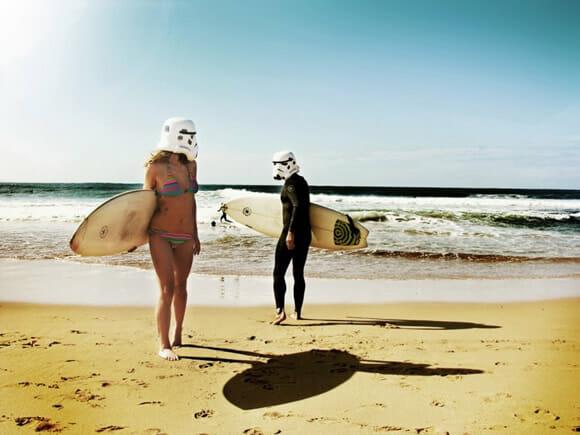 Os Stormtroopers saem de férias.
