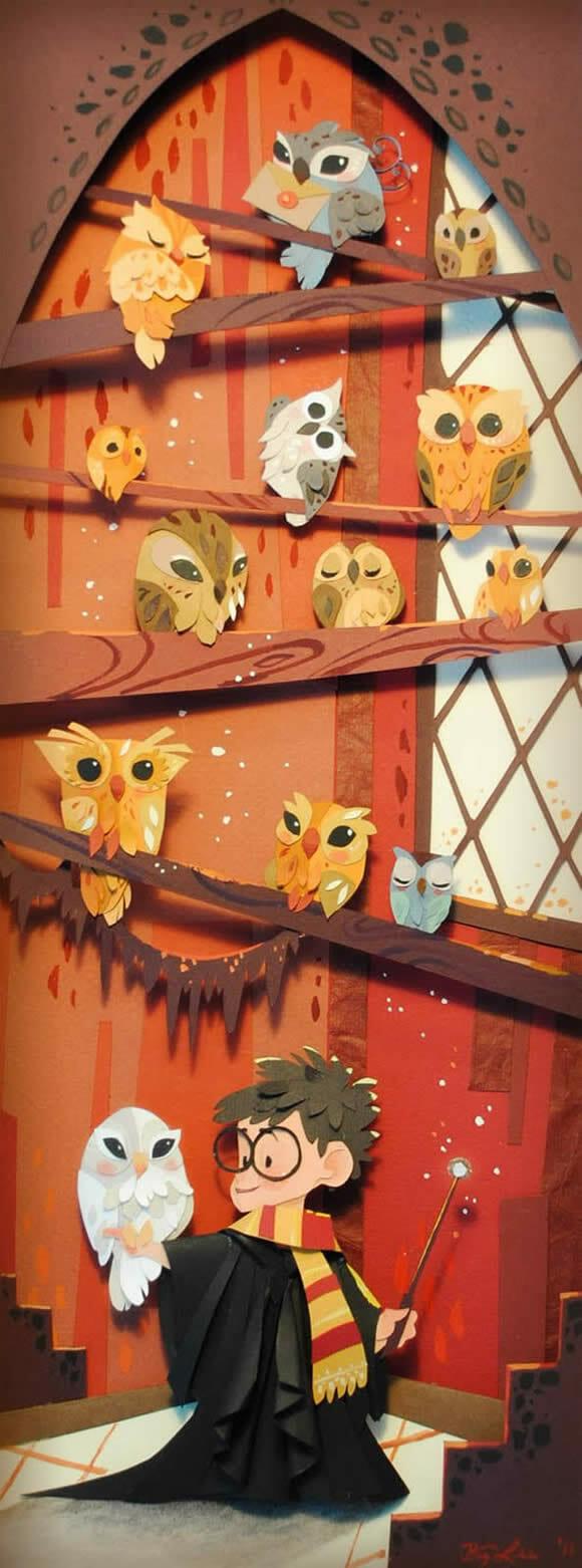 Os incríveis quadros de Brittney Lee inspirados em Harry Potter.