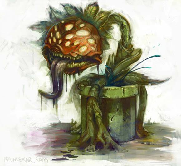 Versões realistas dos inimigos do Super Mario - Piranha Plant