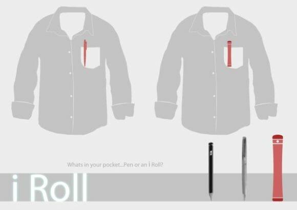 iRoll - Um smartphone conceito futurista em forma de rolo.
