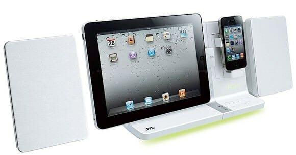 JVC coloca iPads e iPhones juntos em seu novo Sistema de Som Digital.
