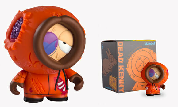 Mini figure do Kenny de South Park morto.