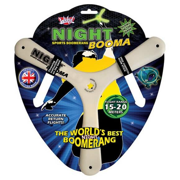 Night Magic Boomerang - Um bumerangue feito para aqueles que só podem brincar de noite.