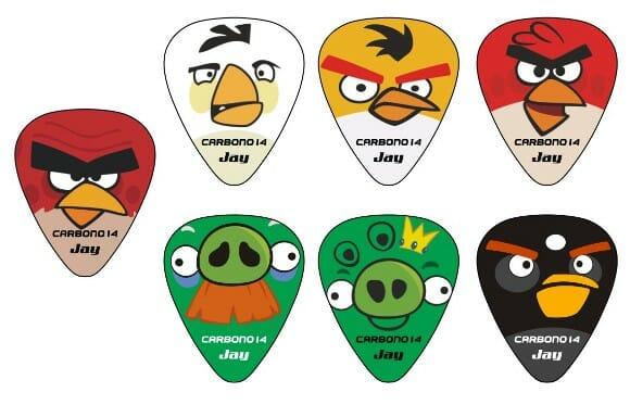 Palhetas personalizadas com o tema Angry Birds!
