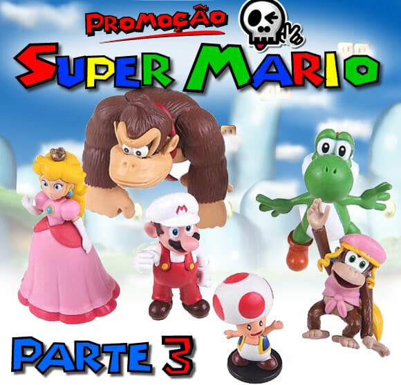Promoção Mini Figures Super Mario - Parte 3. Ganhe 1 boneco do Yoshi e da Peach!