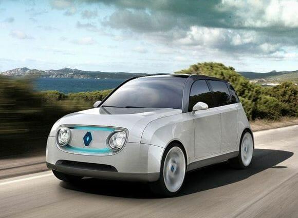 Renault reinventa seu antigo 4L com uma versão elétrica e futurista.