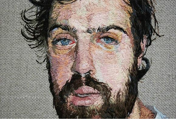 Retratos Bordados de Daniel Kornrumpf 2