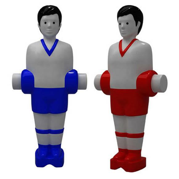 Saleiro e Pimenteiro em forma de bonecos de Pebolim.