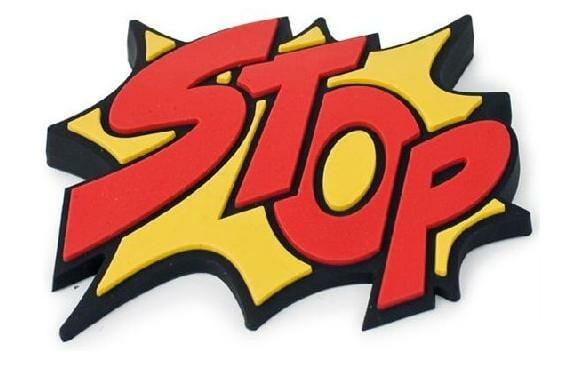 Trava-portas Cartoon POW e Stop